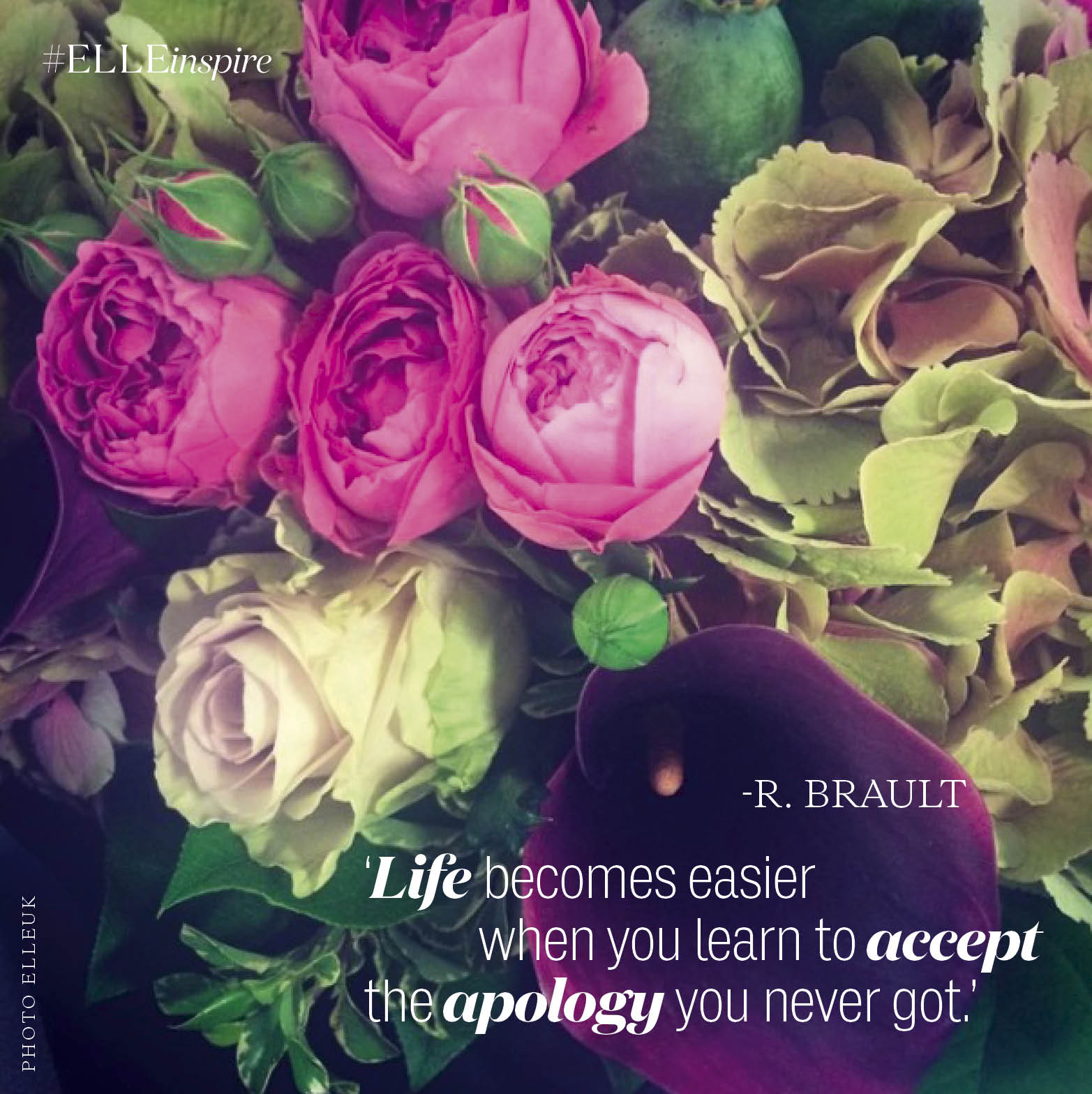 'Life becomes easier when you learn to accept the apology you never got.' #ELLEinspire http://t.co/AGhd5Dge6B http://t.co/HQbRrjXzwK