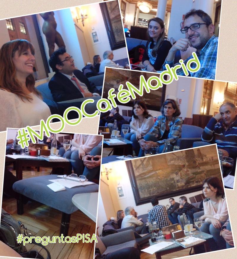 De lo virtual a lo presencial #MOOCafeMadrid #MOOCafe #preguntasPISA http://t.co/1QEp6CWpIt