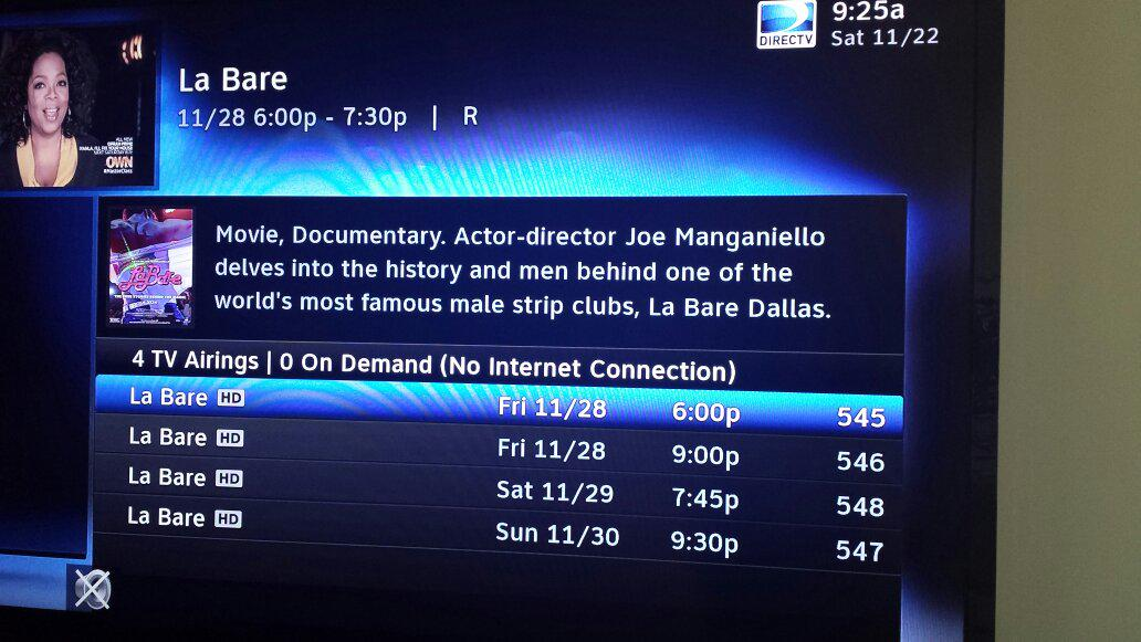 """""""@JoeManganiello:Celebrate Black Friday w/the cable premiere of #LaBare on @SHO_Network http://t.co/kcrE2HqvAe"""" leftover turkey & strippers!"""