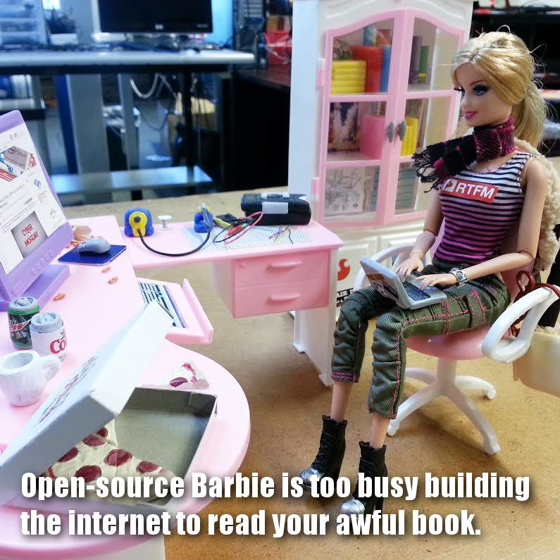 Open-source Barbie has some thoughts about the Barbie book in the news. http://t.co/v9EsPQs3NL