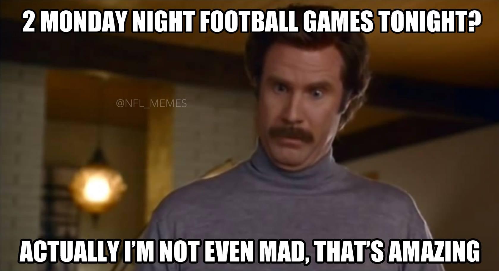 Nfl Memes On Twitter Two Monday Night Football Games Http T Co X5qnr5n5nx