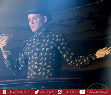 Top hat and eye make-up. A traditionally strong look for @JamieLaing_UK #madeinchelsea http://t.co/VoYoayjby3