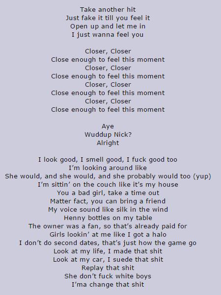 close nick jonas lyrics