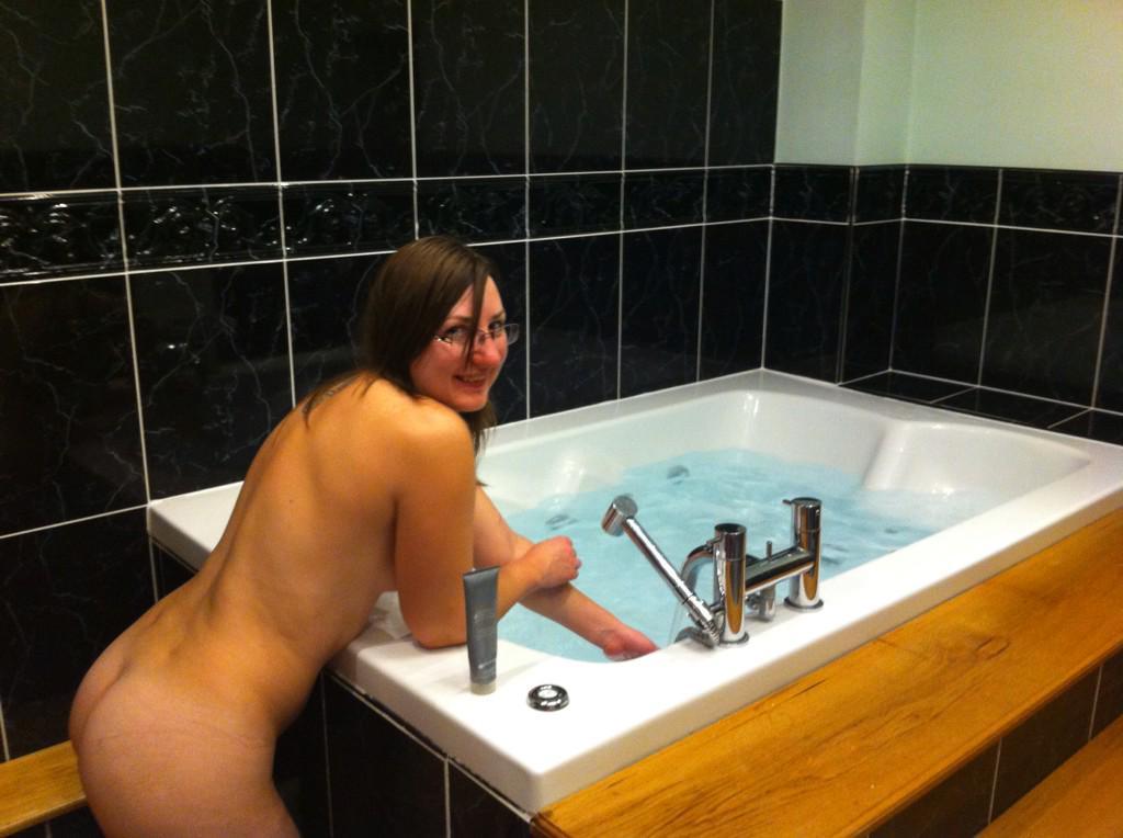 Pandora Blake and the hot tub!