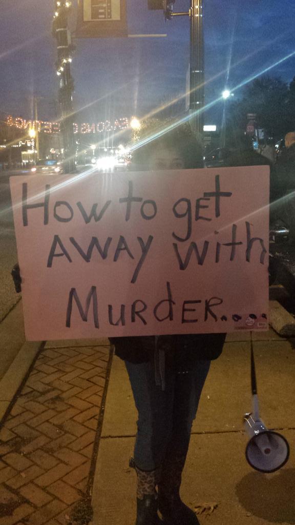 """@ToluseO: Outside the #Ferguson police station http://t.co/wTZWvjLn16"" >>wow!!"