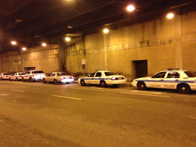 "Even Chicago police readying for #Ferguson news. ""We're on standby,"" an officer told me.  This is on Lower Wacker. http://t.co/P9fintJNhJ"
