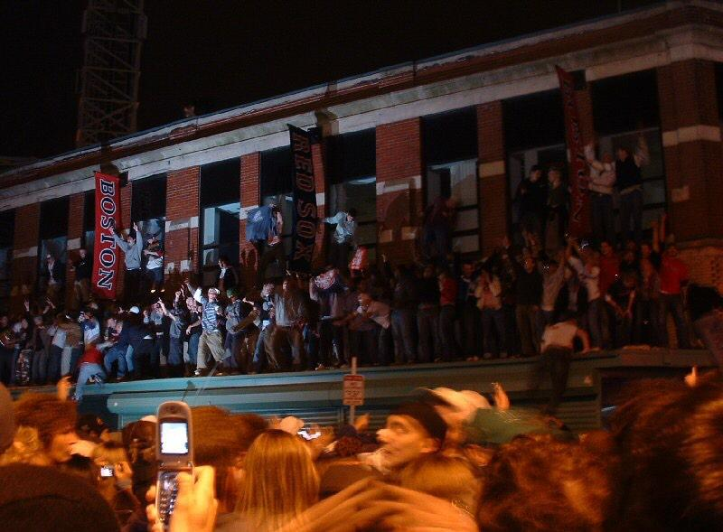 Boston, 2004. Because a baseball team won a game. One woman was killed by police. http://t.co/pTVg35kBTN