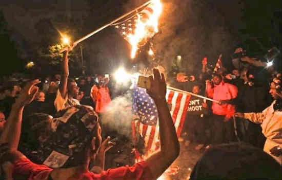 Wow RT @Hogfanatic87: Thats right #Ferguson burn the flags of the country you all rely on....This is disgusting http://t.co/WhOk8TlVHs