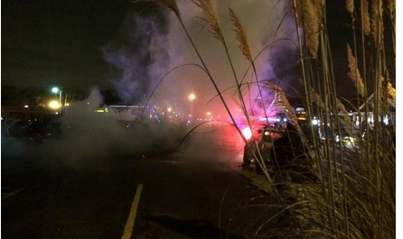Tear gas reportedly being fired upon protesters: http://t.co/lmq8gD4dPN #Ferguson http://t.co/ioXEc3HEpg