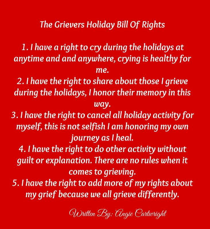 Image result for grief bill of rights