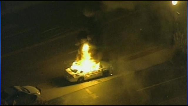 IMAGE: Vehicle on fire in #Ferguson http://t.co/MscLzshcby http://t.co/9eTcLcLsGQ