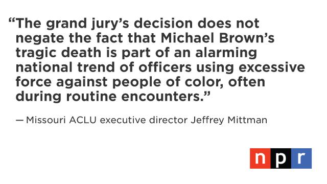 NPR's latest updates on the situation in Ferguson: http://t.co/T8j5XZqRAR http://t.co/JmYkbAXtaz