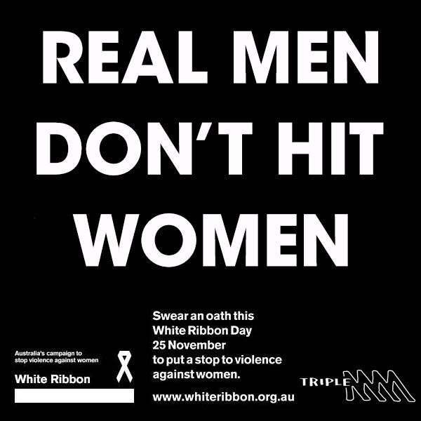 Stop violence against women. #whiteribbonday Take the oath http://t.co/I3fGXXVQtE