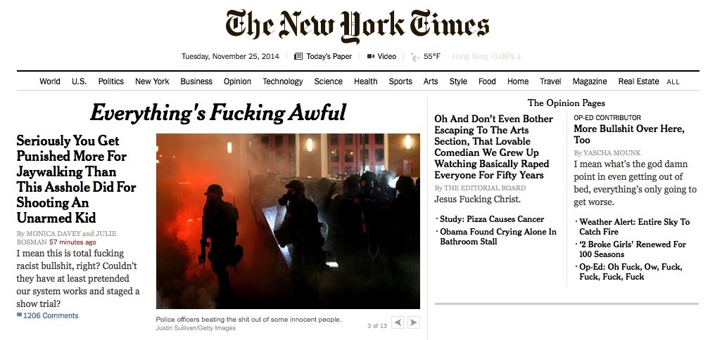 "RT @laurabrown99: The clever fella who made this! ""@joeveix: Sneak peek of tomorrow's New York Times. http://t.co/acc6OfRPe0"""
