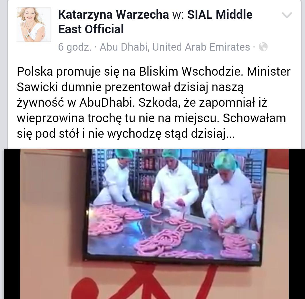 "Mistrzowie marketingu ""@Exen: Meanwhile in Abu Dhabi... Poland is marketing pork to the Muslims http://t.co/19Cv8FzMpJ"""
