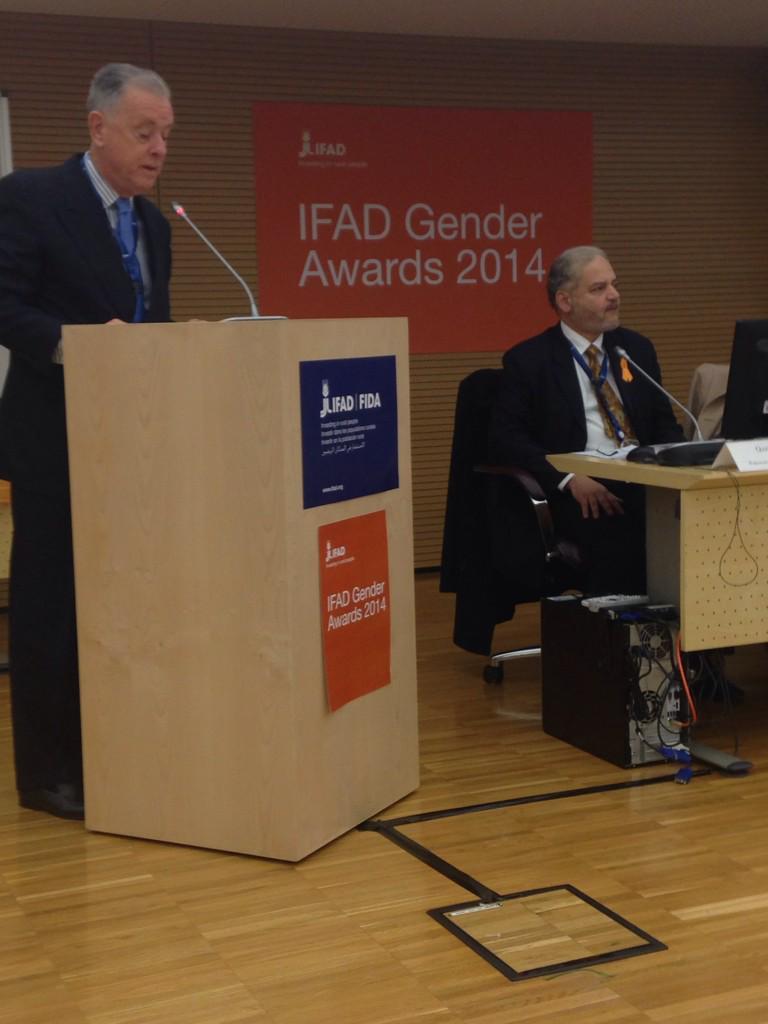 @IFADnews #ifad avp john mcintire opening the #gender awards cerimony #ifadgender http://t.co/UWwwKPH1t0