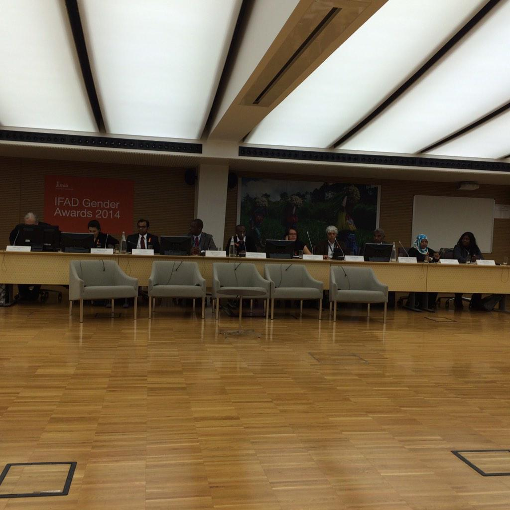 #ifadgender awards at #ifad today 25 nov 2014. http://t.co/G9W5zySxJW