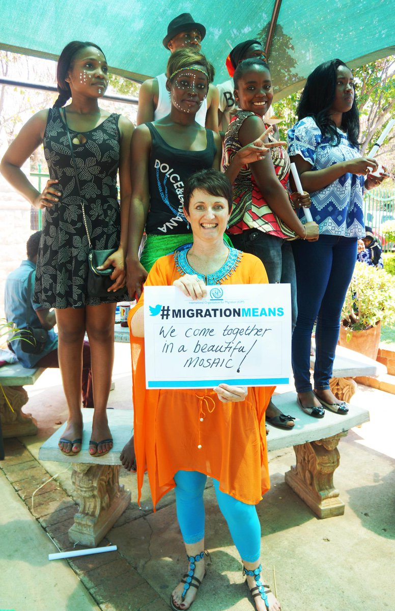 "English learning centre for migrants director Michele says #MigrationMeans ""Coming together in a beautiful mosaic"" http://t.co/YcTlnmgVow"