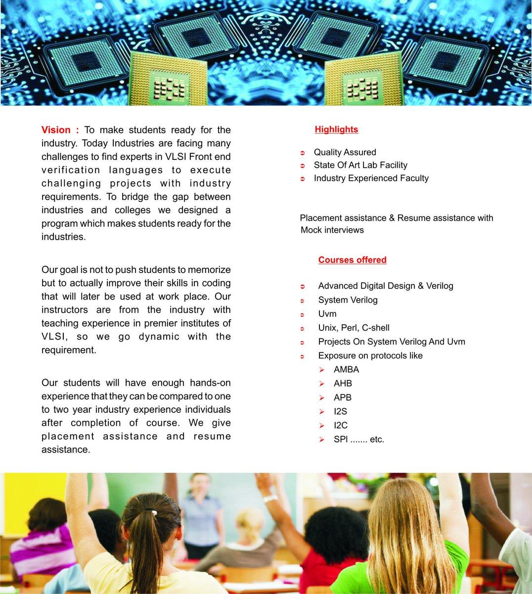 Vlsi Design Courses In Hyderabad: SVM on Twitter: \Advanced VLSI Training Institute #Hyderabad #KPHB rh:twitter.com,Design