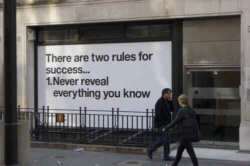 The two rules for success http://t.co/SsU0S06TJK