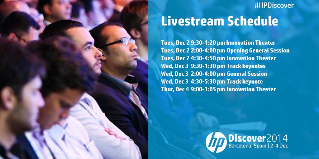 Watch #HPDiscover live December 2-4 beginning Tuesday at 9:30am CET: http://t.co/HxHFuZB9zu http://t.co/5gFqj4OH7P