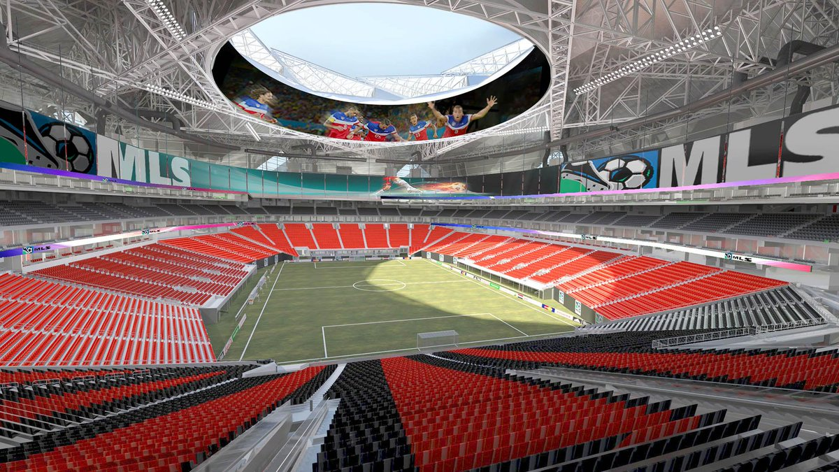 How the new stadium may look for @MLSAtlanta2017. Do you like it? http://t.co/dpkp4YG3lJ