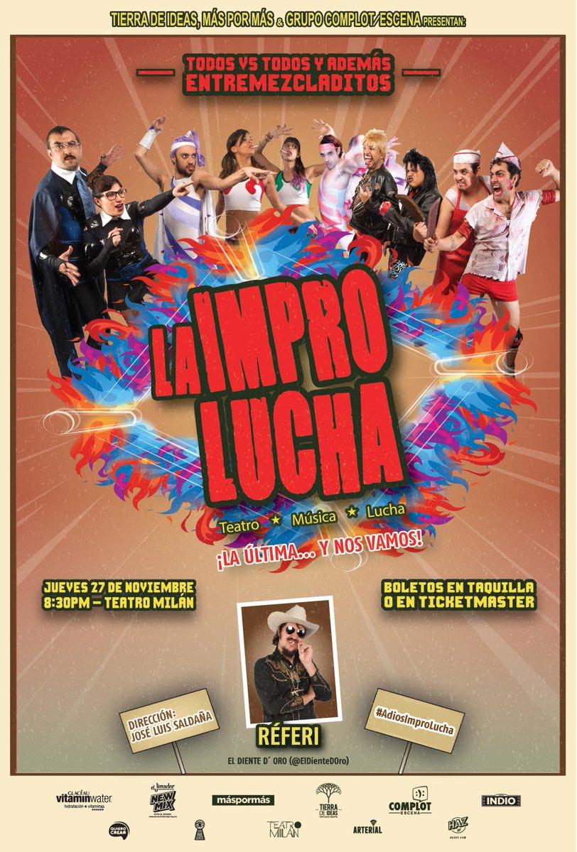 El jueves se Improlucha por ÚLTIMA VEZ en el @teatro_milan! Y tendremos #NocheDeSwingers: las 5 duplas pero mezcladas http://t.co/kdXXdsi1qj