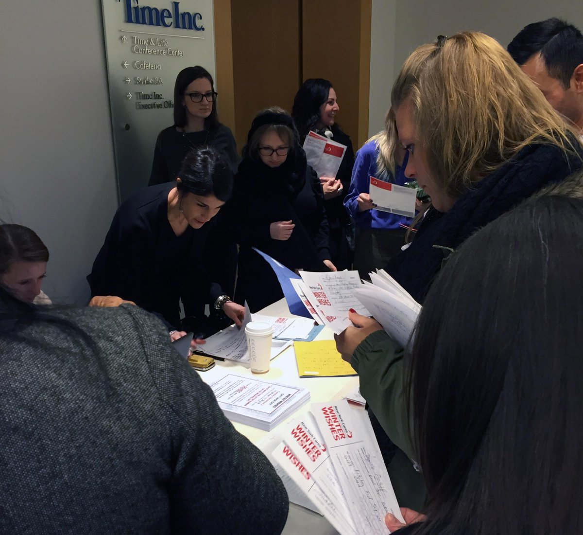 Spotted: Time Incers at lunch reading&choosing families' letters thru @newyorkcares winter wishes program #lifeattime http://t.co/dzbq5OYUEg
