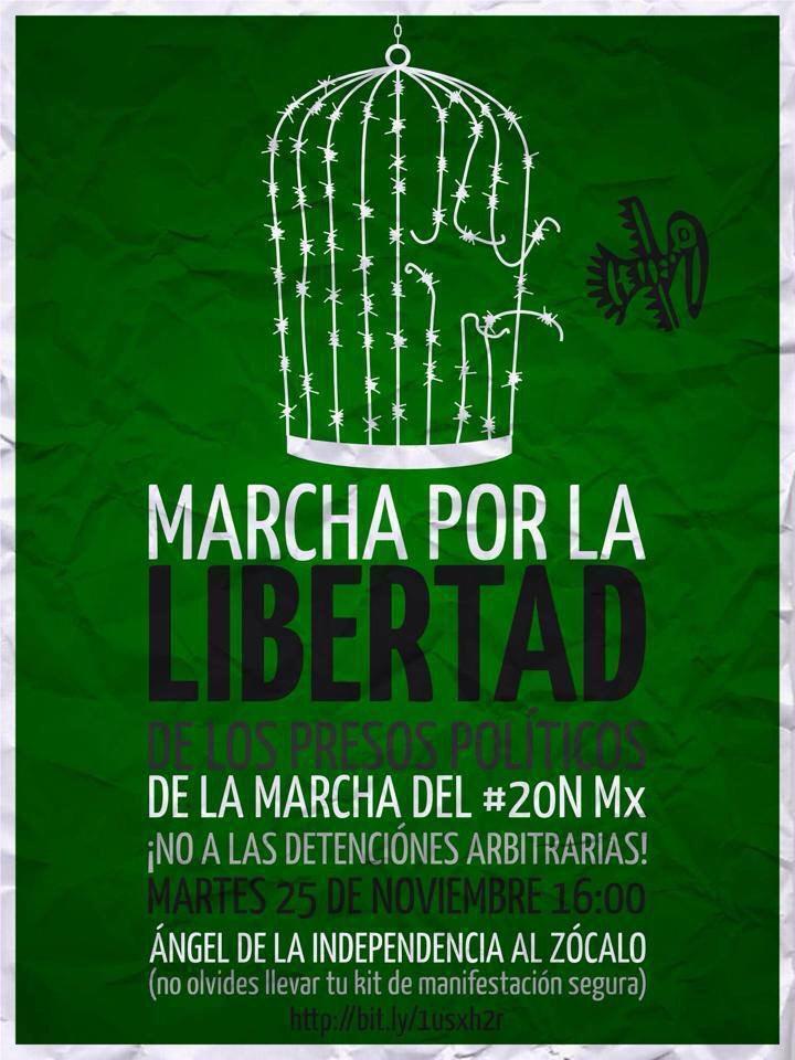 Somos mexicanos que exigimos justicia. No mas represión ni miedo. #YaMeCansé http://t.co/Wkl423BM1m