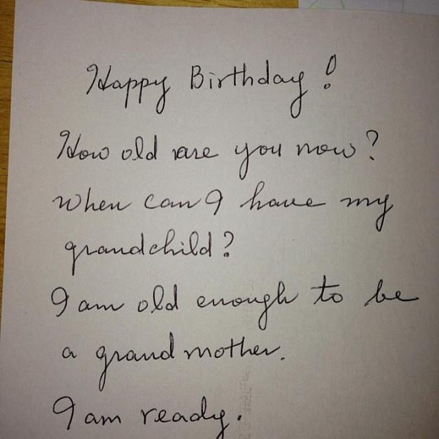 "Ramit Sethi On Twitter: ""Birthday Card By Korean Mom (via"