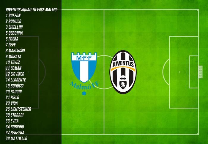 Diretta Malmoe Juventus info streaming, verso Juve-Torino derby