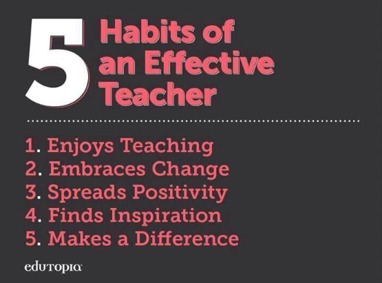 5 Habits of Effective Teachers from @edutopia http://t.co/CzSUc302sW