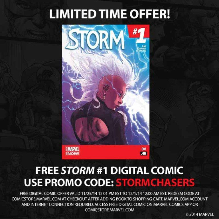 Want to #SaveStorm? Spread the word. Download STORM #1 for FREE til 12/1. Code is STORMCHASERS http://t.co/srGxnAJEPl http://t.co/73r8JhAowQ