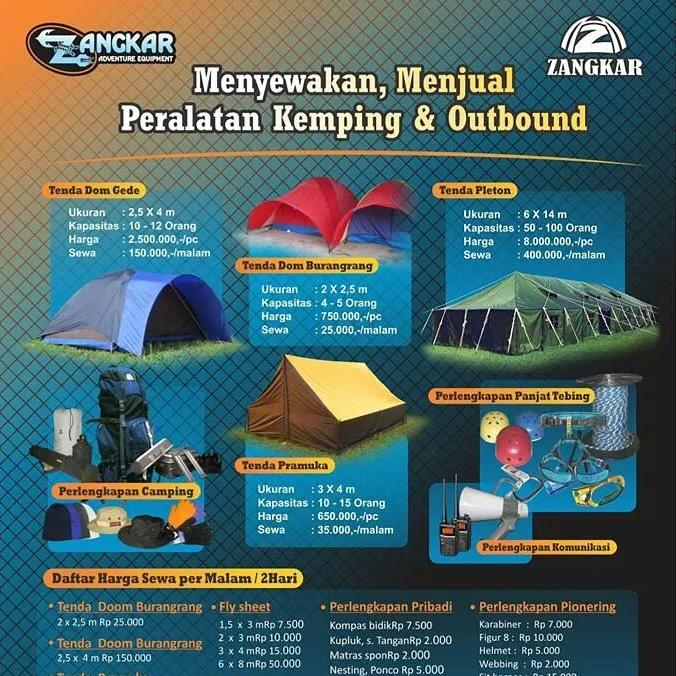 Zangkar Outdoor On Twitter Daftar Harga Sewa Zangkar Outdoor Http T Co 70b7yaadsi