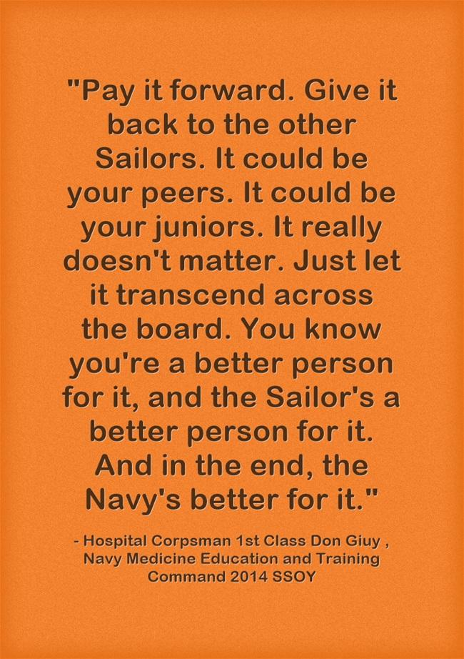 Navy Medicine On Twitter Quotable Quotes NMETC '60 SSOY Pay It Enchanting Pay It Forward Quotes