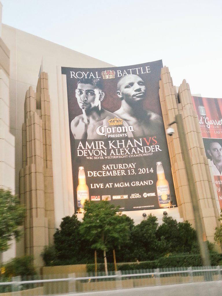 RT @Raks_VIPHost: Drove past MGM just now & its got our very own @AmirKingKhan all over it #Vegas #MGM #KhanArmy #KhanAlexander #Boxing htt…