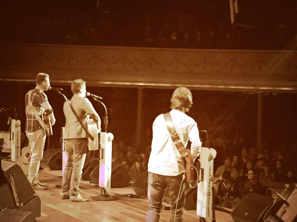 Great Birthday!  Got to watch two of my best buds @loveandtheft debut #WhiskeyOnMyBreath at the @opry tonight! http://t.co/QUWB4T4ECL