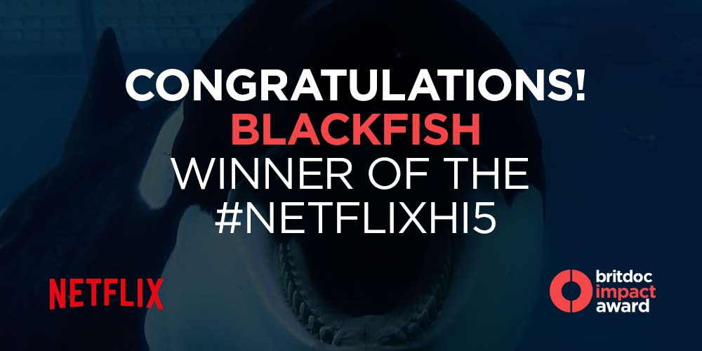 Delighted for @blackfishmovie which last night won this year's #NetflixHi5 prize. Thanks to all who voted! #Blackfish http://t.co/jBwYPZeItY