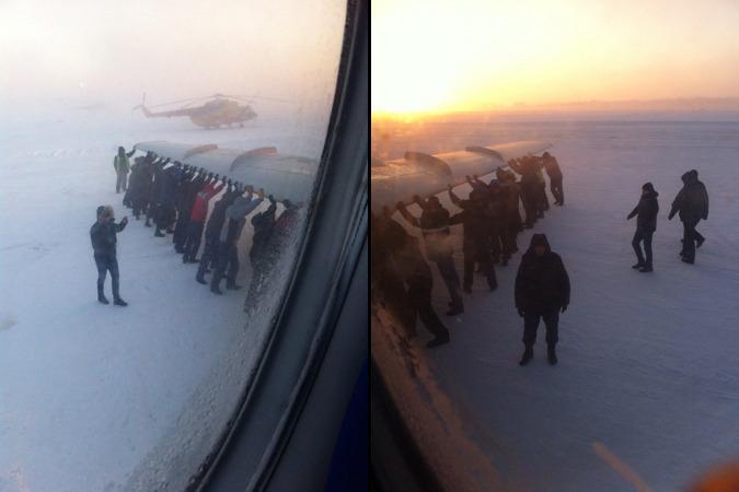 [Internacional] Passageiros tiveram de empurrar avião congelado no aeroporto da Sibéria (vídeo) B3Wb64UCQAAZbkg