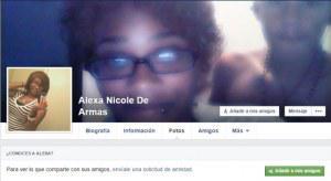PErfil de Facebook de Alexa Nicole de Armas