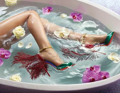 SS15 @LouboutinWorld: Shoes so good you'll want to wear them in the bath. http://t.co/9P32I5Zt7O