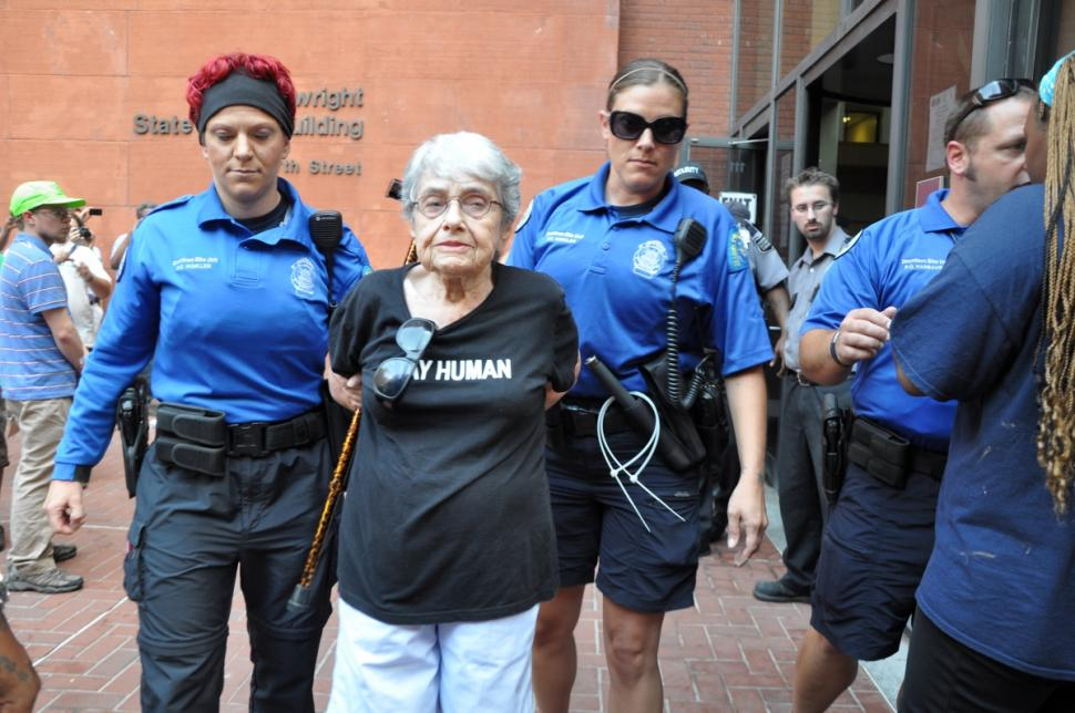 90 year old Holocaust survivor, Hedy Epstein, arrested for protest over #Ferguson | http://t.co/ZCl17jlo0h | #Justice http://t.co/vzf5Zk0vYy