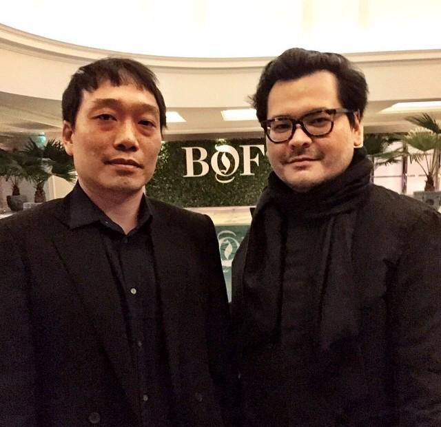 Tim Lim and Karchun Leung at the #BoFChina launch in Shanghai #BoF500 http://t.co/By4CXRaWzy