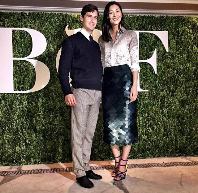 A bit of #Thanksgiving romance at the #BoF500 #BoFChina dinner in Shanghai @liuwenlw @charliesiem http://t.co/Vze9YQMeP3