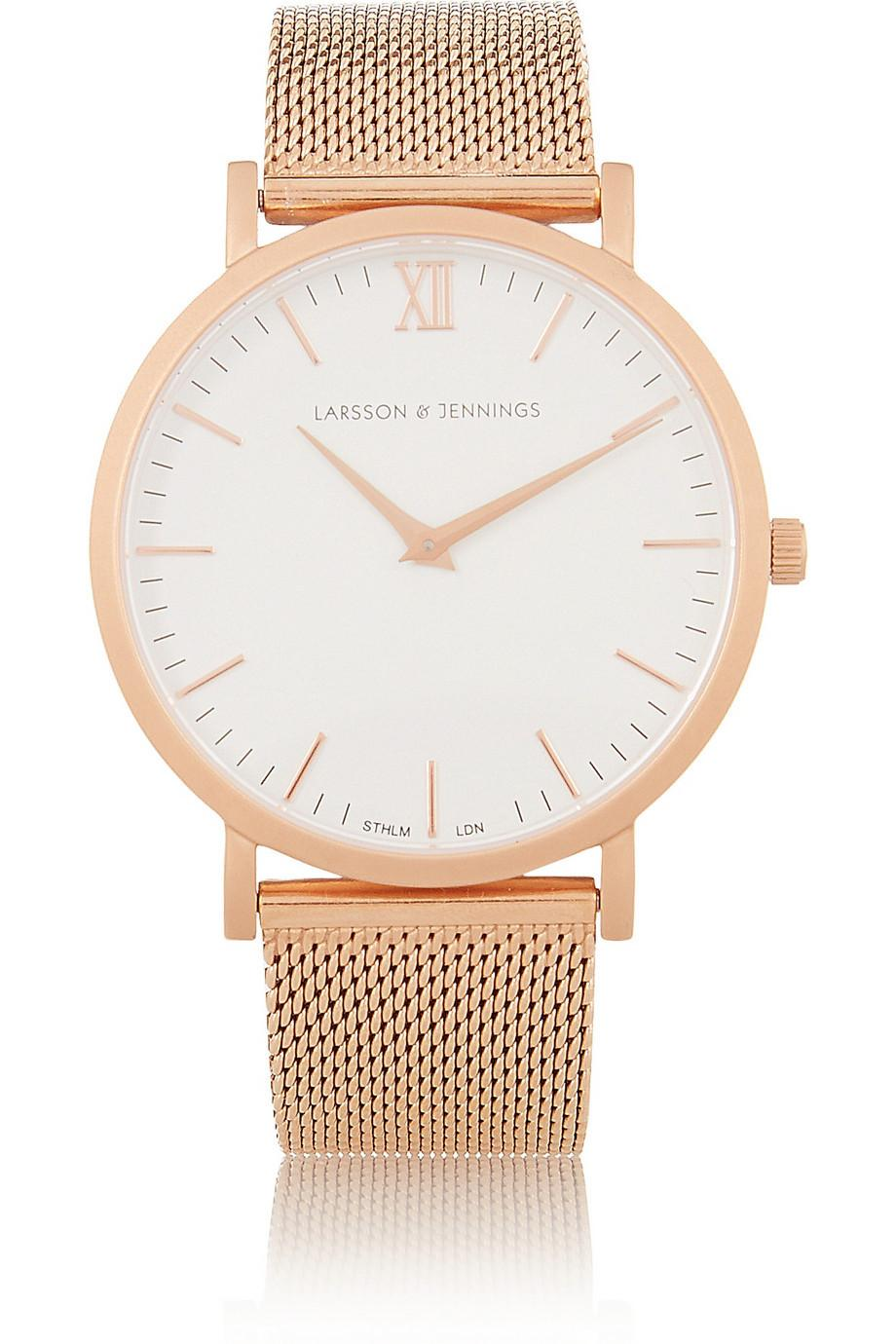 Things are looking rosy thanks to @LarssonJennings rose gold watch, exclusive to #netaporter. http://t.co/enW5hQDC7p http://t.co/JdEjkSEYNy