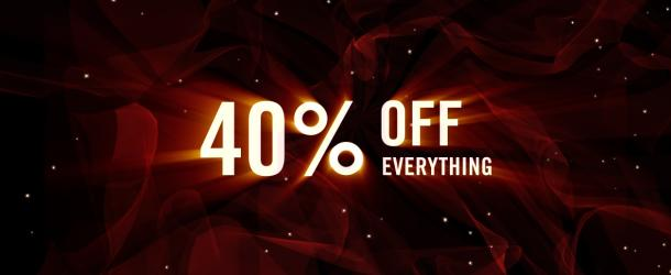 SALE | On 12/9/14 we're having a big Year-End Sale: 40% off everything in the Red Giant store. http://t.co/jk16E3q4rq http://t.co/bRUAmIZg2X