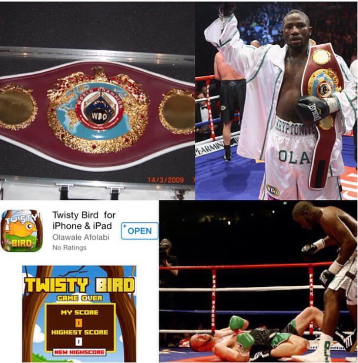 RT @Tony_Jeffries: World champ Ola Afolabi is givin away his WBO boxing belt to the person who gets top score of his new app #TwistyBird ht…