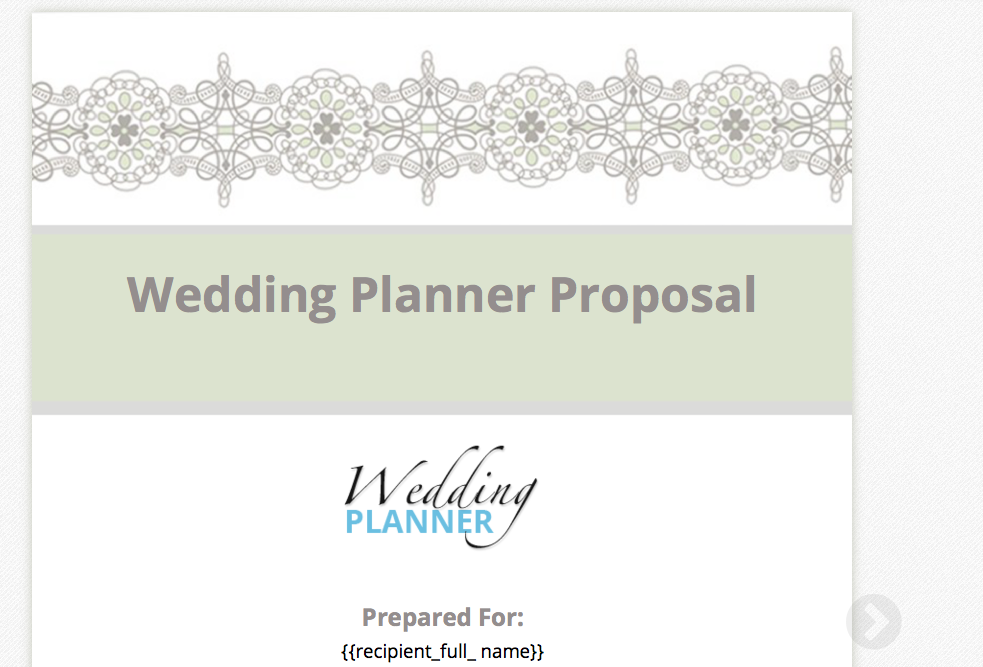 Proposable On Twitter The Wedding Planning Proposal Template Is