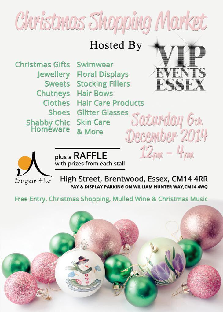 If you are in Brentwood on Saturday 6th December Make sure you pop in to our Christmas shopping event! 12pm-4pm http://t.co/onZHaEJPUk