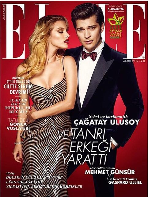 Çağatay Ulusoy, Elle Dergisinin Aralık sayısına kapak oldu!